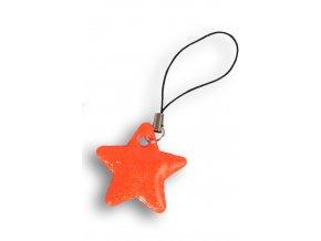 Reflexní hvězdičky - SVĚTLE ČERVENÁ