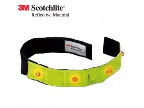 Reflexní 3M LED blikající páska - žlutá