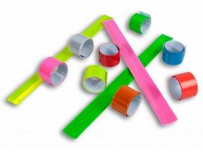 Reflexní samonavíjecí pásky - MODRÁ