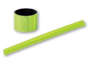 Reflexní samonavíjecí žlutá páska 40x3cm