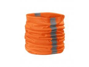 Reflexní univerzální šátek-oranžový