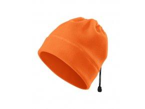 Fleecová reflexní čepice-oranžová
