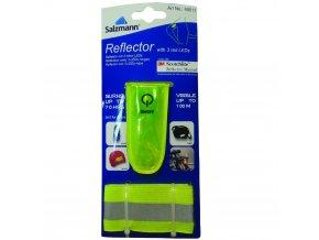 LED blikačka s elastickou páskou na suchý zip 3M