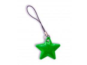Reflexní hvězdičky - ZELENÁ