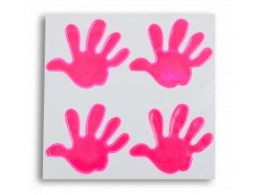 Reflexní samolepky- RUKA růžová