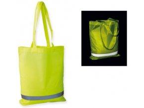 Šusťáková taška s reflexním pruhem -žlutá