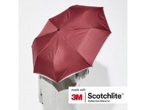 Reflexní 3M scotchlite deštník - ČERVENÝ