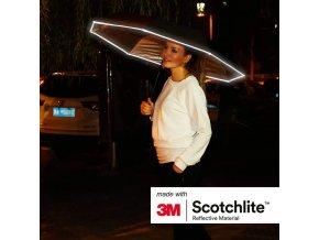 Reflexní 3M scotchlite deštník - ČERNÝ