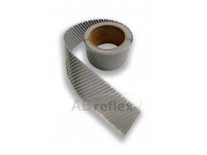 Reflexní šrafovaná nažehlovací páska - 50mm