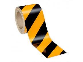 Reflexní páska 3M žluto-černá, DIN 4844, šíře 50 mm