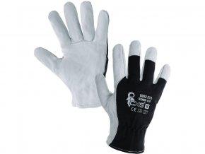 Kombinované rukavice TECHNIK ECO, černo-bílé, vel.8
