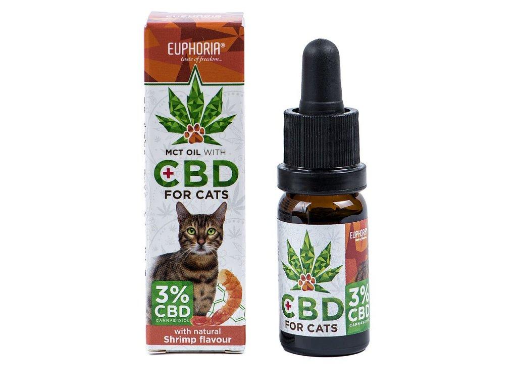 639 Euphoria CBD olej 3% 10ml pro kočky