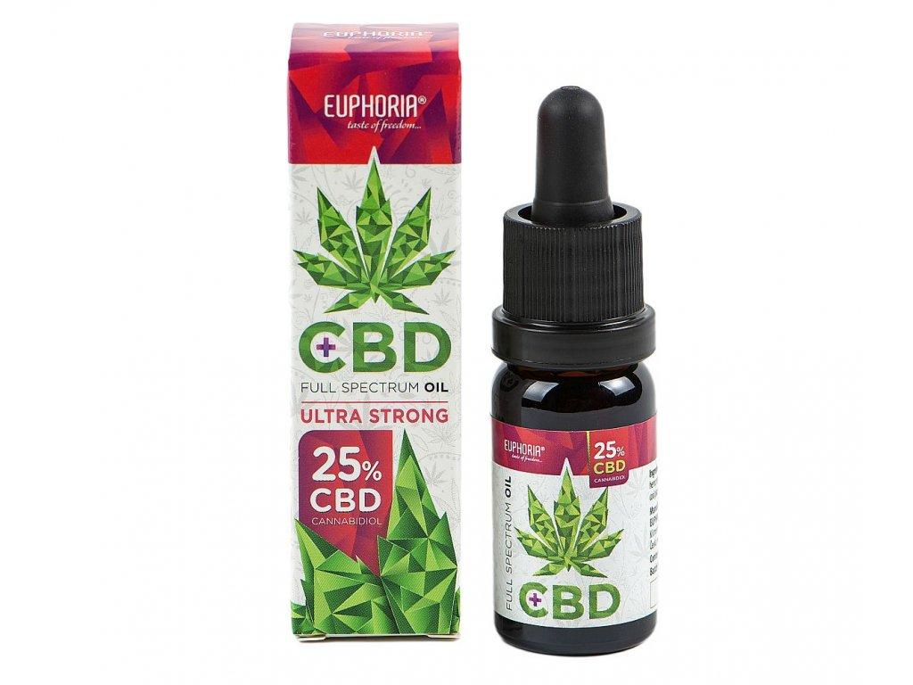 Euphoria CBD olej 25% 2500 mg 10 ml