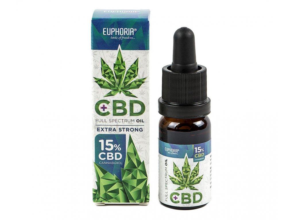 Euphoria CBD olej 15% 1500 mg 10 ml