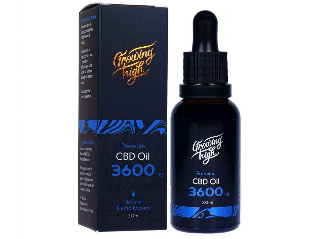 GH036001 Growing High CBD oil 3600mg olej kapky 30ml