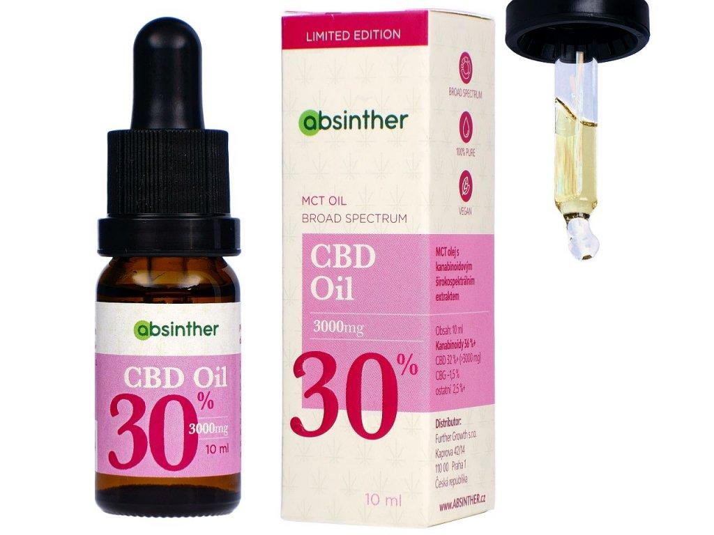 a133 absinther mct oil broad spectrum cbd oil 3000mg 30 10ml