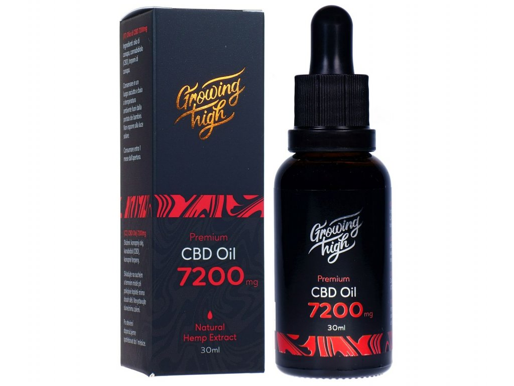 GH072001 Growing High CBD oil 7200mg olej kapky 30ml