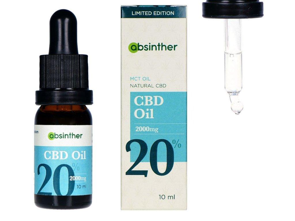 A124 absinther mct olej s prirodnim cbd 20 10ml