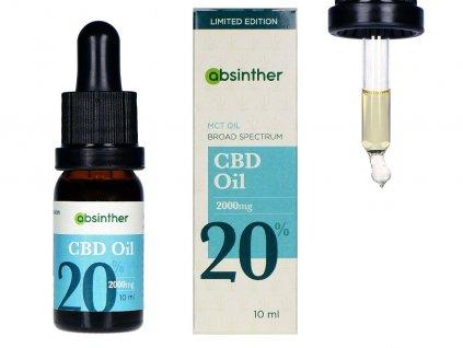 A123 absinther broad spectrum 23 mct cbd olej 20 10ml