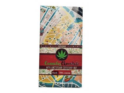Cannabis Chocolate Dark Amsterdam Coffeshops Map