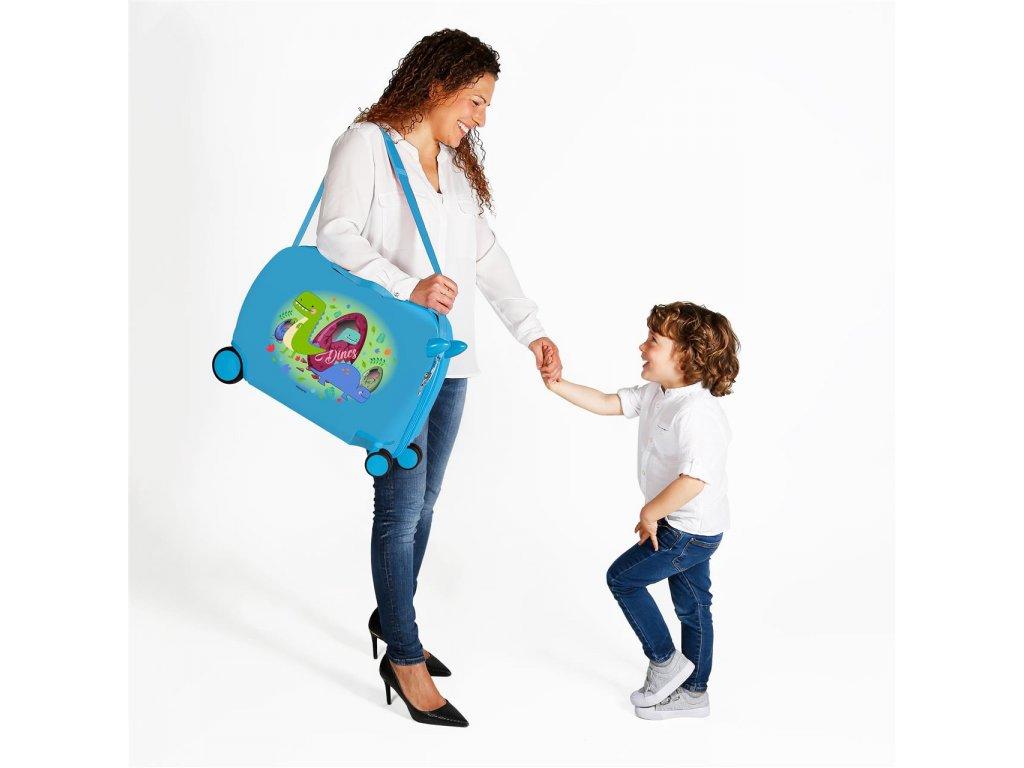 Dětský kufřík na kolečkách - odražedlo - Dinos
