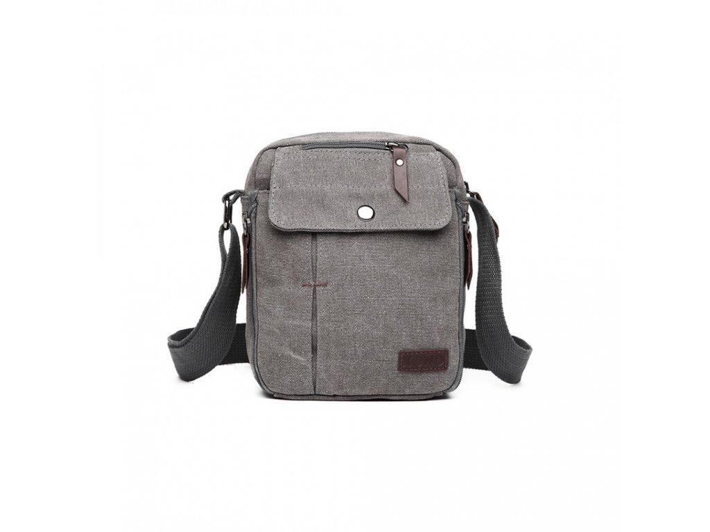 Pánská crossbody taška přes rameno Pocket Black - šedá