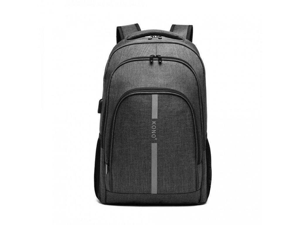 Chytrý batoh se zabudovaným USB portem Freddy - šedý