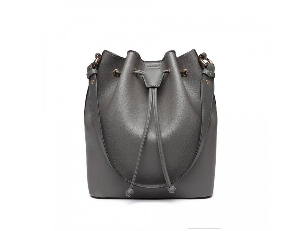 Sofistikovaná elegantní šedá kabelka Adel