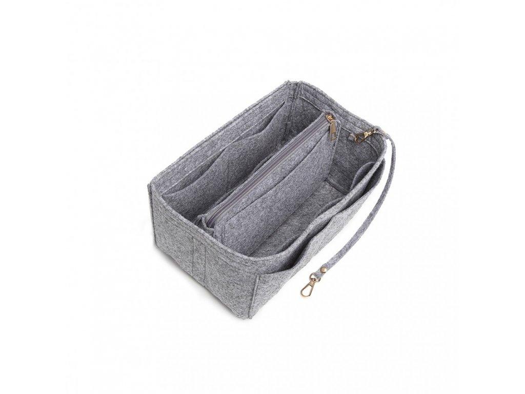 Filcový organizér do kabelky - velký - světle šedý