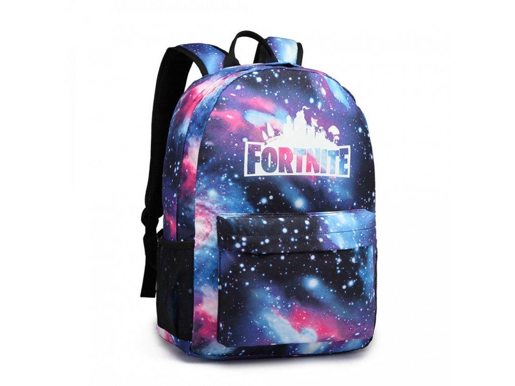 Chlapecký svítící školní batoh - Fortnite - modrý