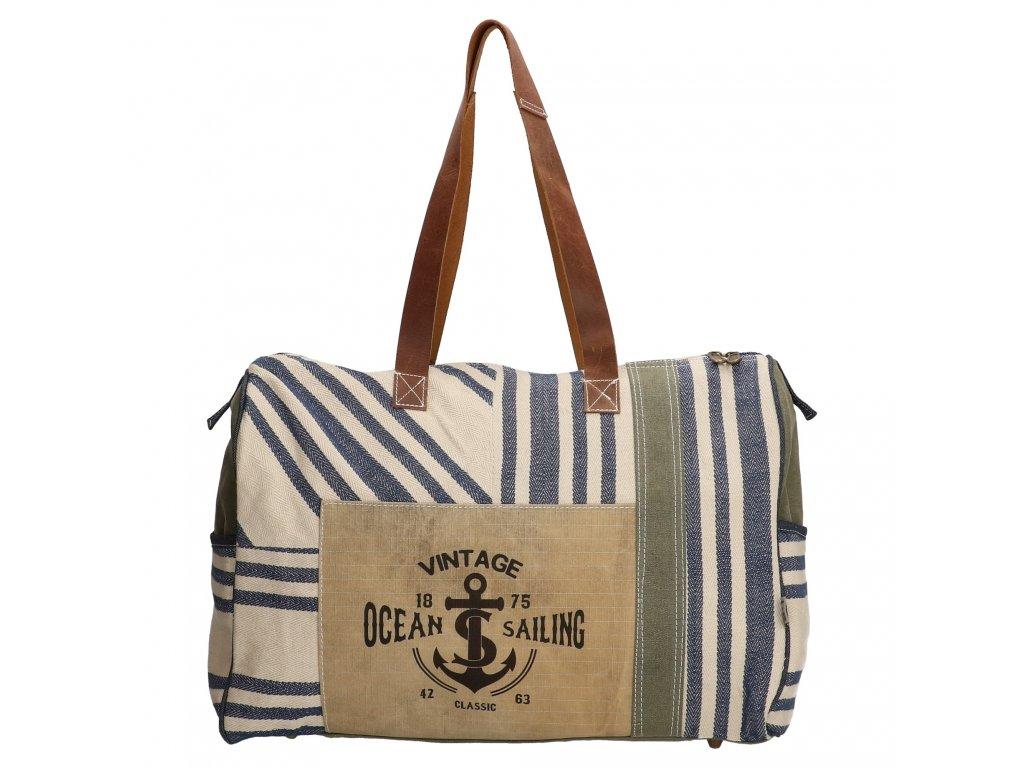 Cestovní taška v námořnickém stylu Vintage Ocean Sailing