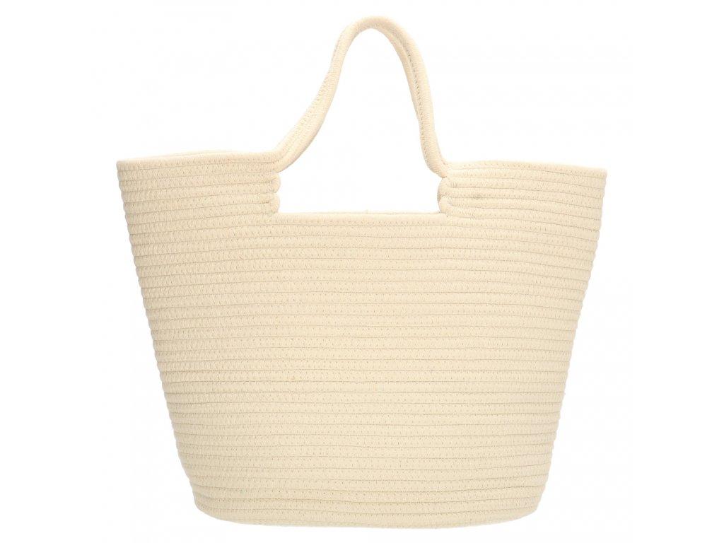 Velká plážová taška PE-Florence Sunset - krémová