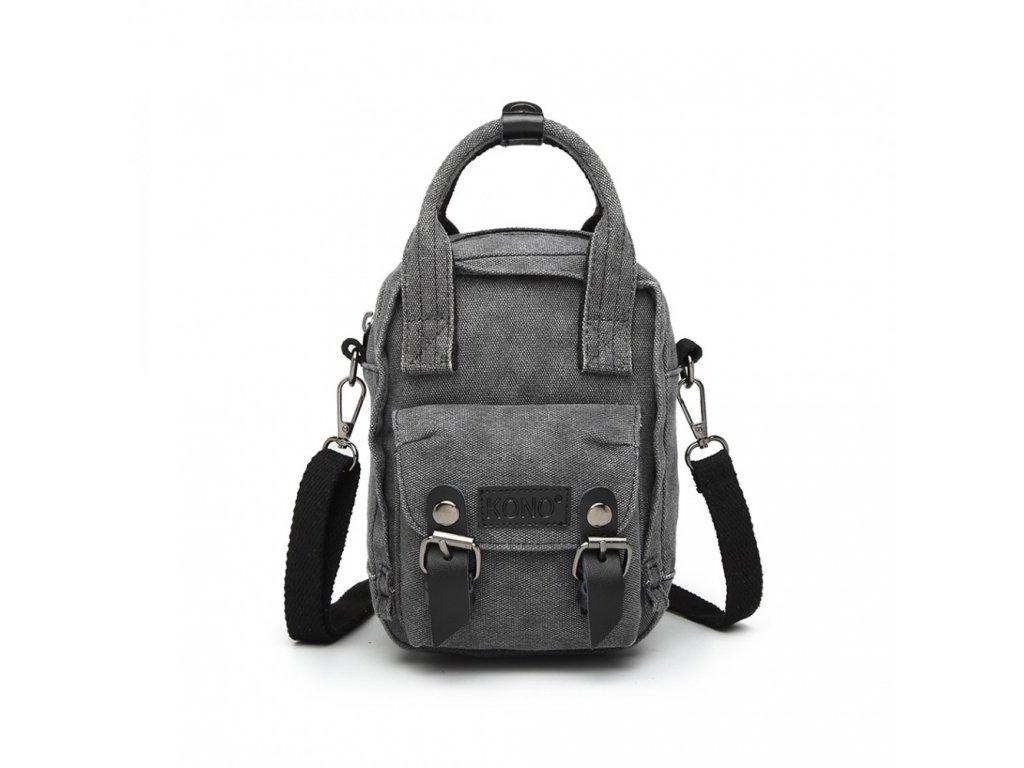 Crossbody mini taška a batůžek v jednom - černý