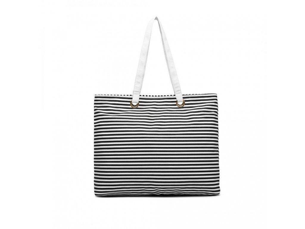 Plážová taška Wanesa - černé pruhy