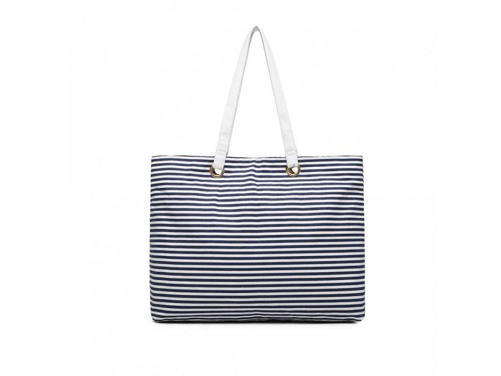 Plážová taška Wanesa - modré pruhy