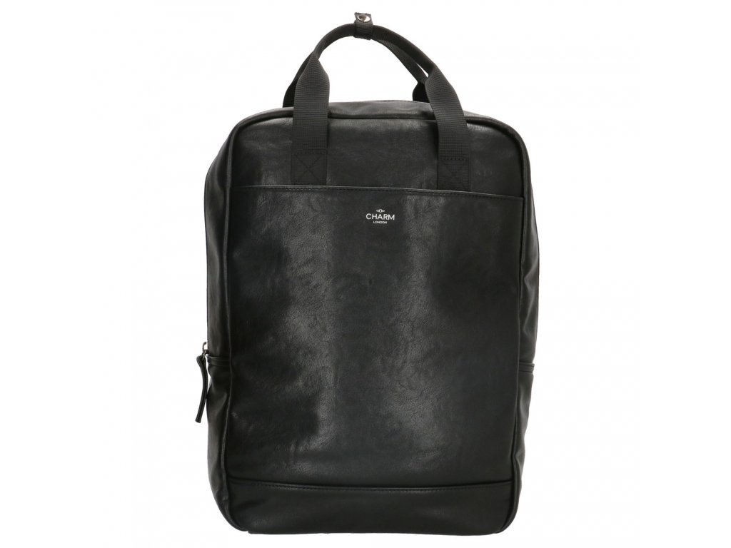Unisex batoh na notebook Charm London Farrington - černý