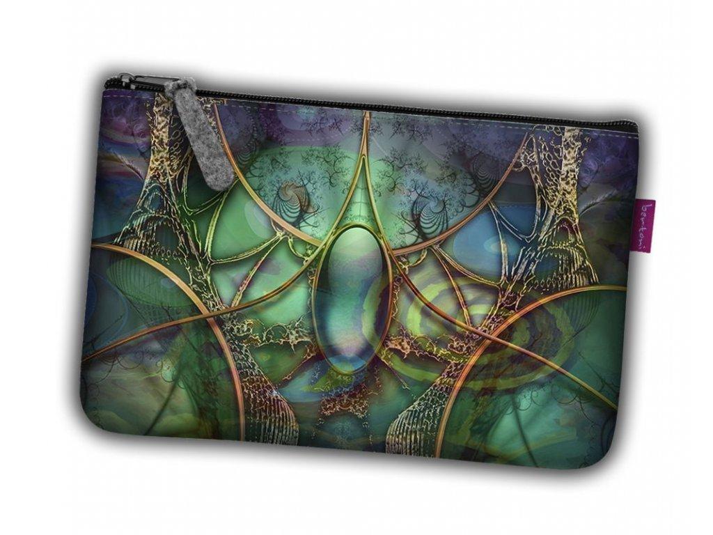 Kosmetická eko taška Smaragd