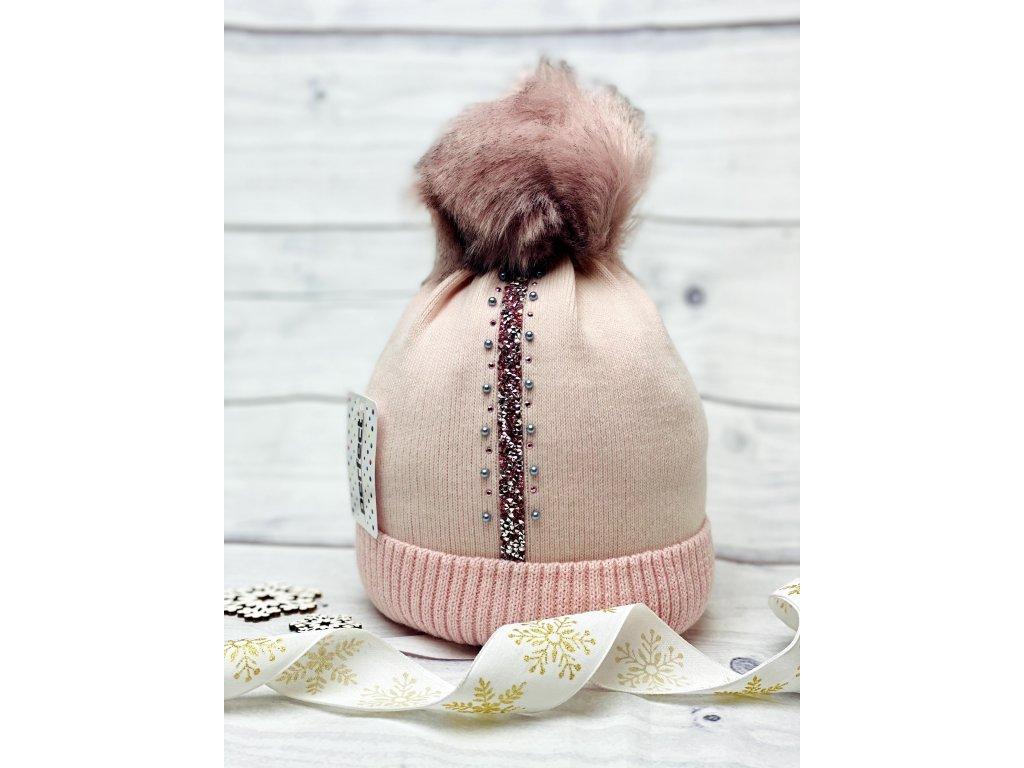 Dámská zimní čepice Evita - růžová