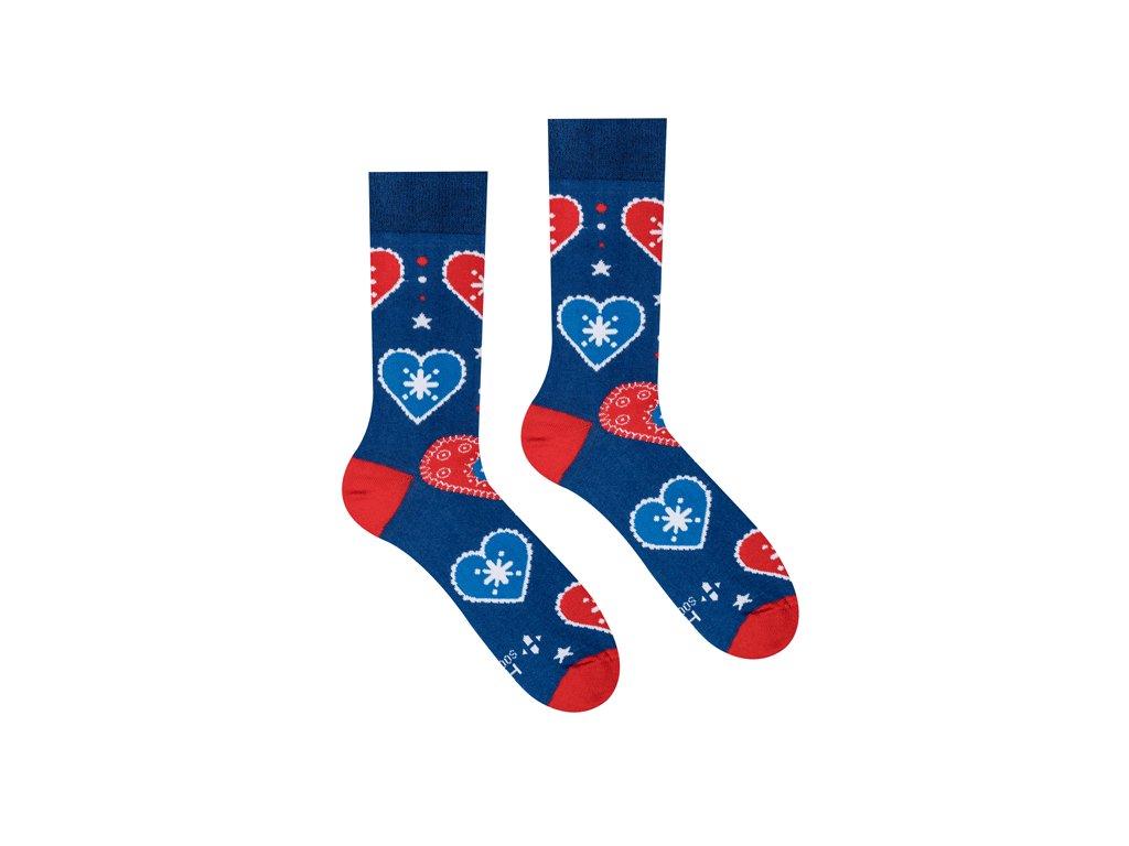 Lidové srdce ponožky