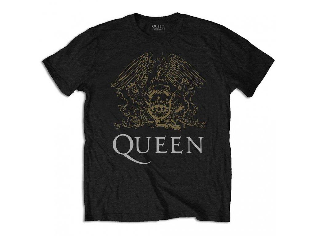 Tričko Queen Černo Zlaté