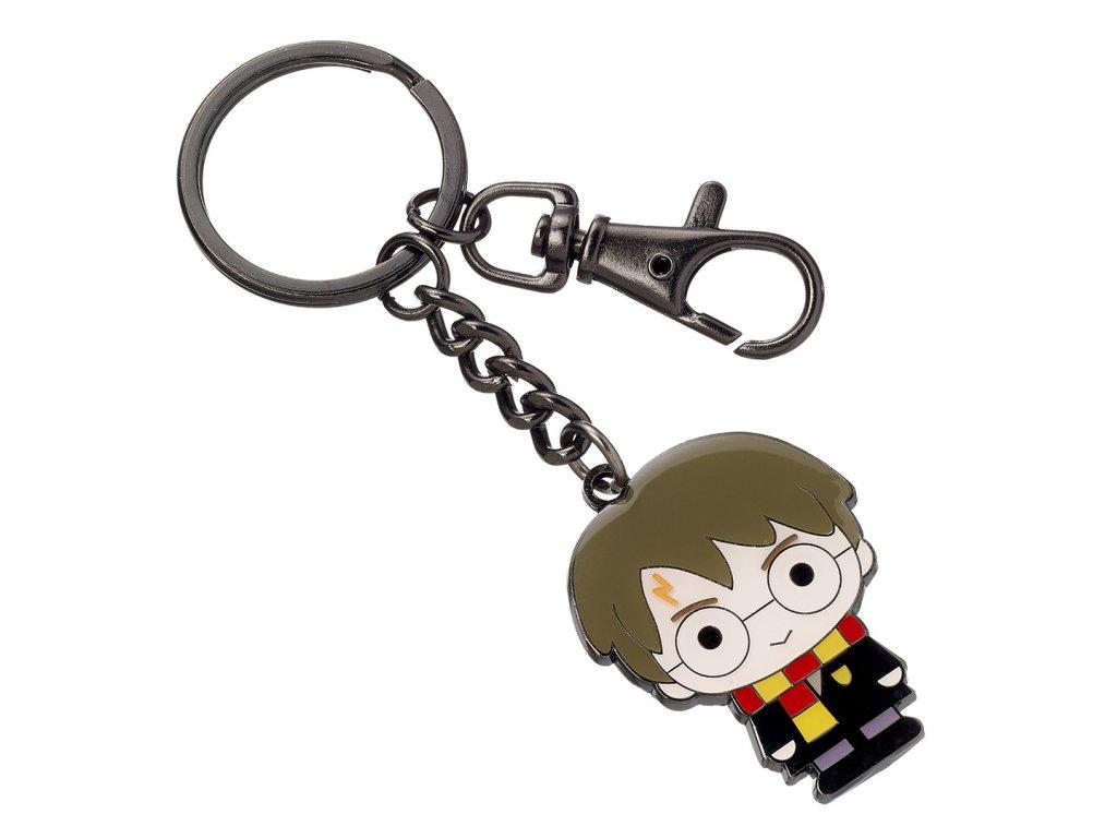 Postříbřená klíčenka s motivem Harryho Pottera.