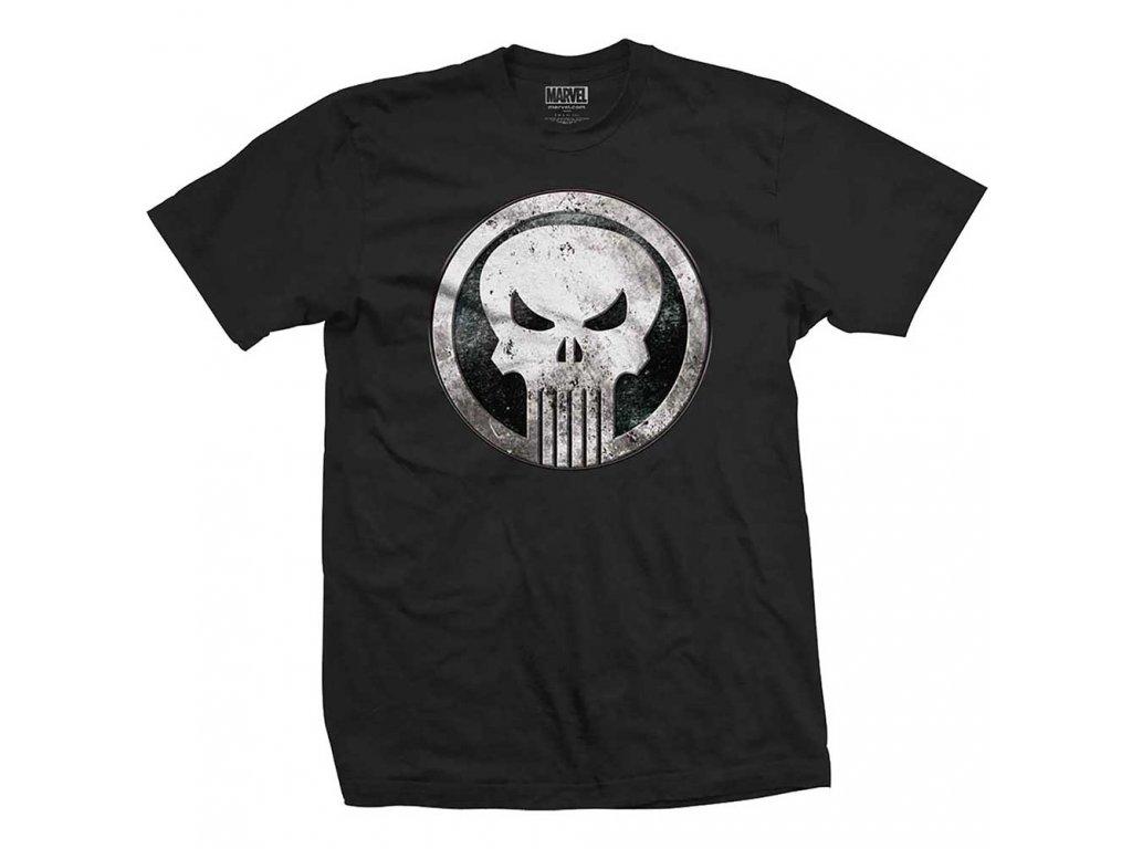 Tričko Punisher Metal Badge
