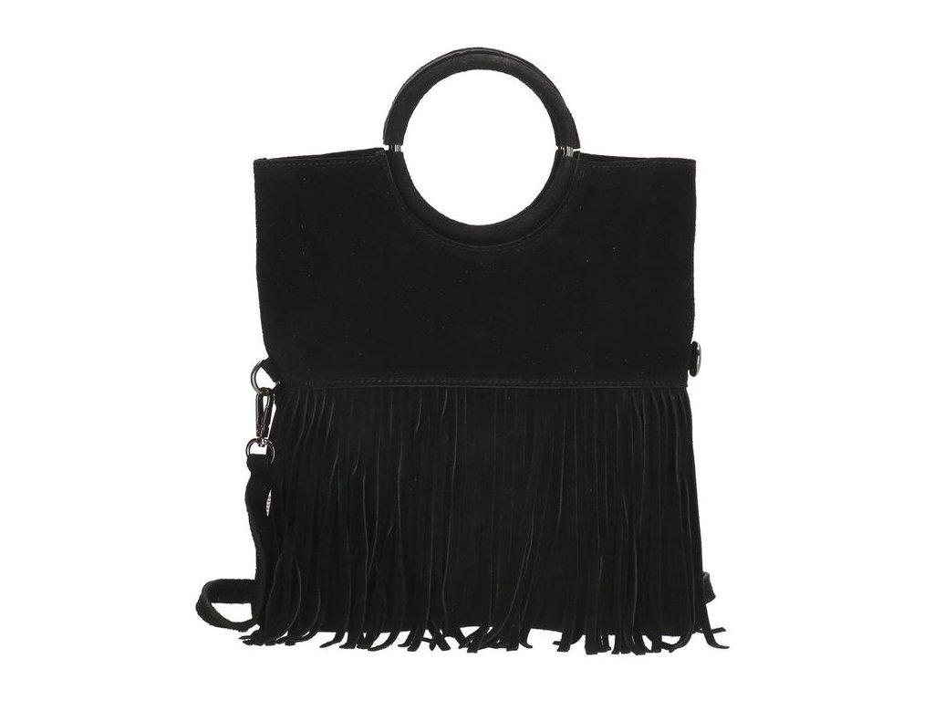 Dámská kožená kabelka Charm London Elisa - černá