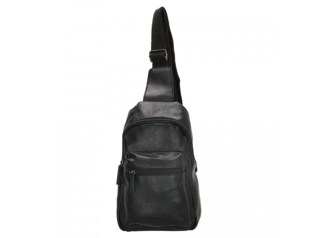 Úzký křížový batoh Beagles Ponte do porto - černý