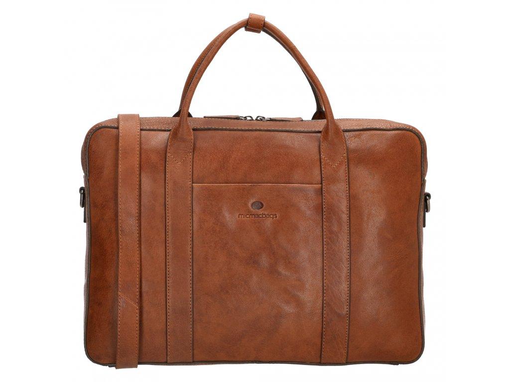 Kožená byznys taška na notebook Micmacbags legacy 15,6 inch (38 cm) - koňaková