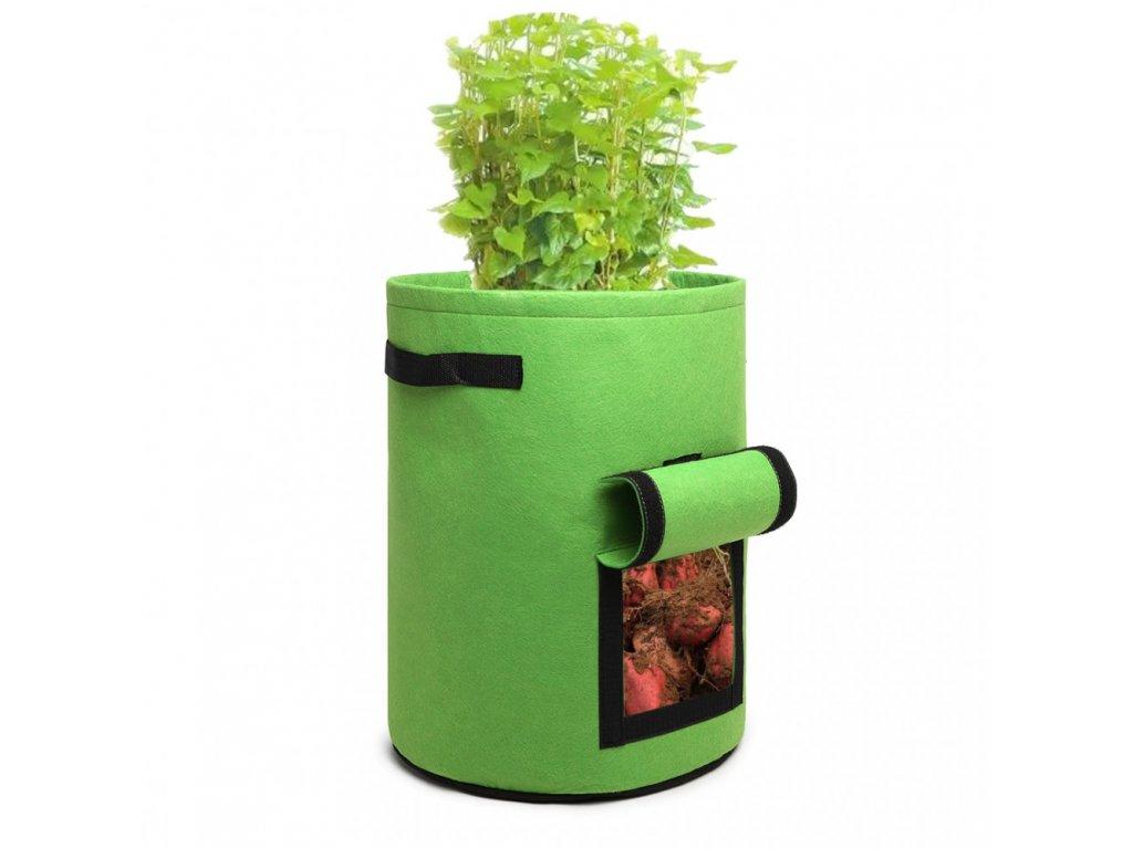 Kono 38L filcová nádoba na pěstování zeleniny - zelená