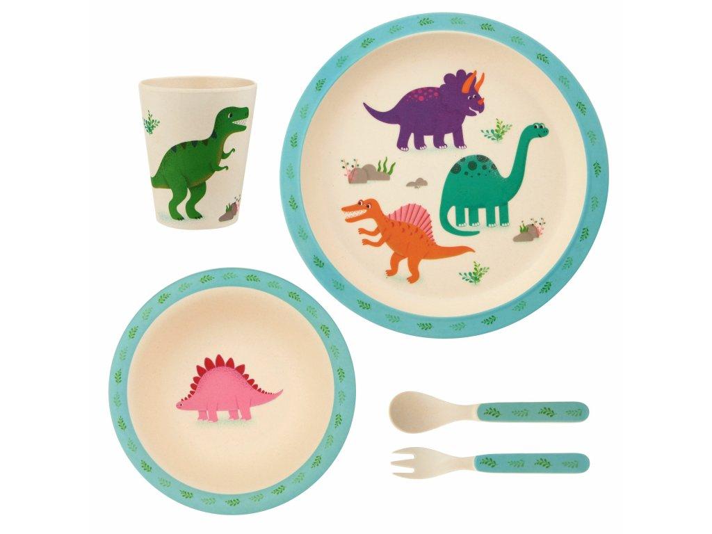 Dětská jídelní bambusová souprava - Roarsome Dinosaurs