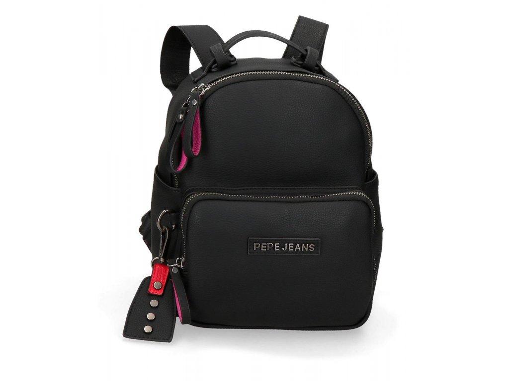 Casual dámský batoh Pepe Jeans Alexa - černý