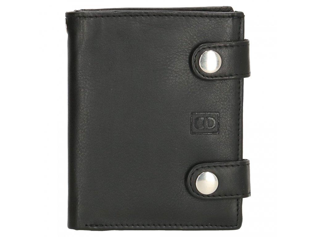 Kožená pánská peněženka Double-D Dali - černá