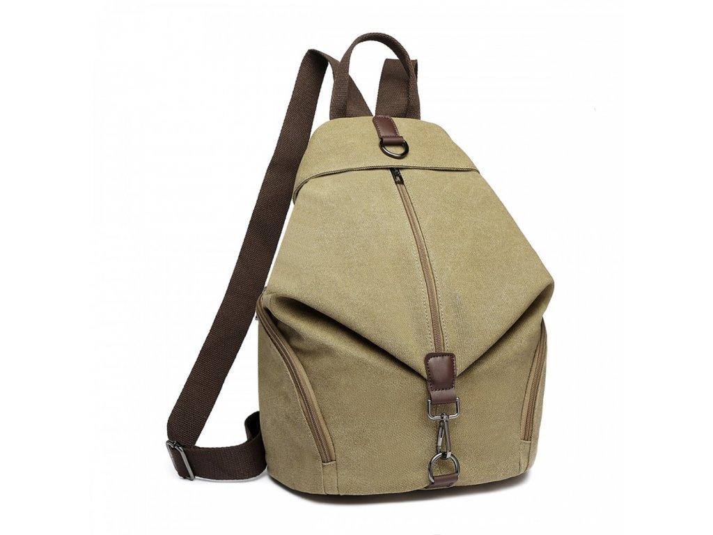 Plátěný batoh proti vykradení Kono Saviora - khaki